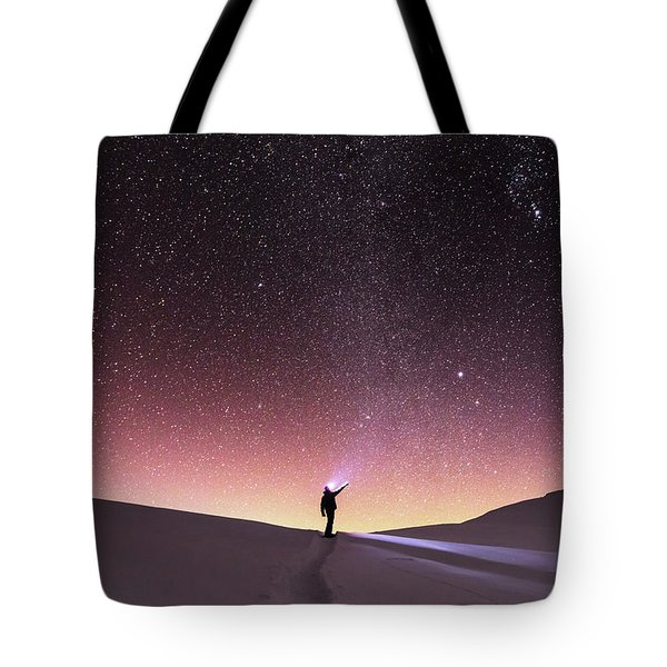 Talking To The Stars Tote Bag by Evgeni Dinev