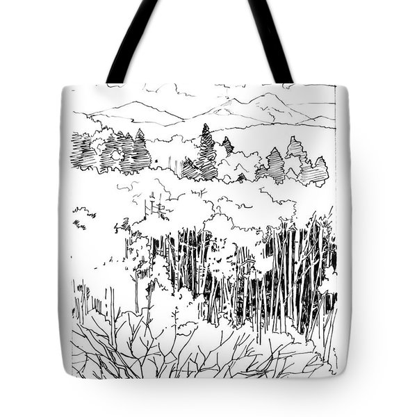 Tall Aspens Rocky Mountains Tote Bag by John Lautermilch