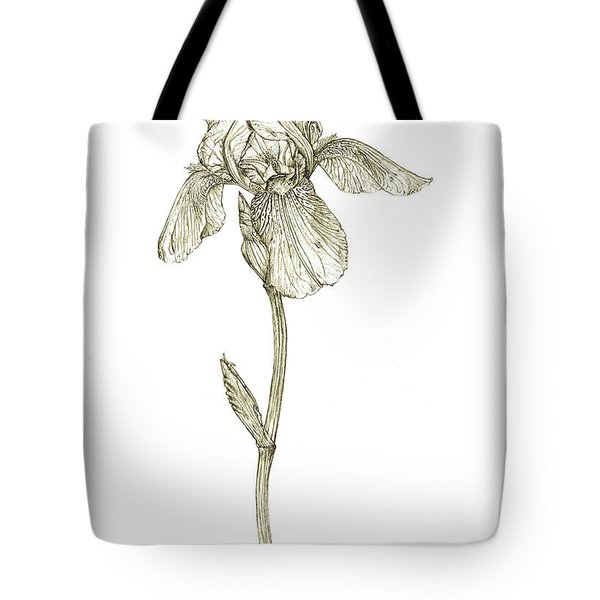 Tall Bearded Iris Tote Bag by Judith Chantler