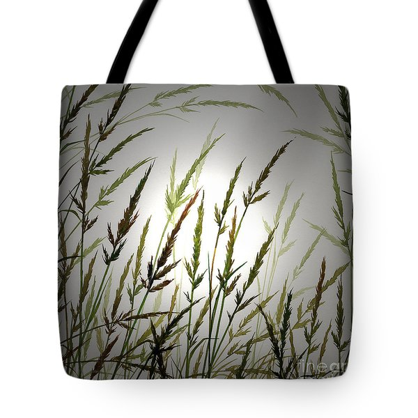 Tote Bag featuring the digital art Tall Grass And Sunlight by James Williamson