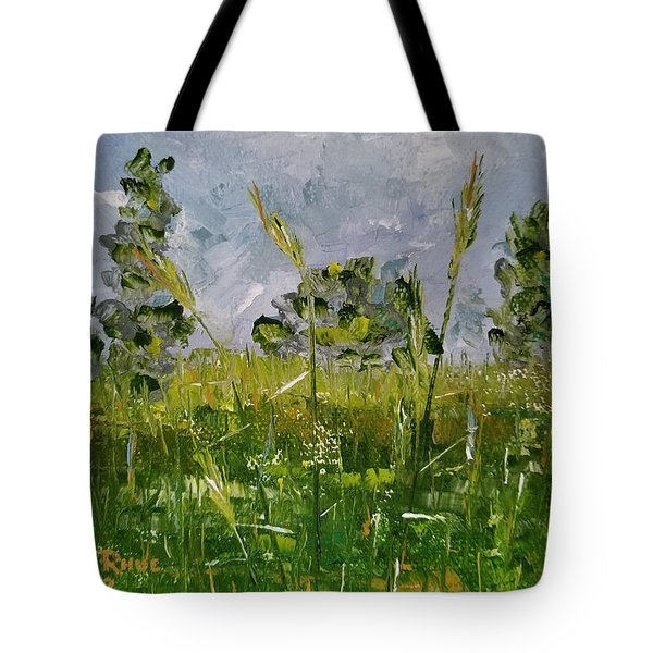 Tote Bag featuring the painting Tall Grass by Judith Rhue