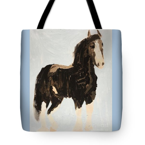 Tote Bag featuring the painting Tall Horse by Donald J Ryker III