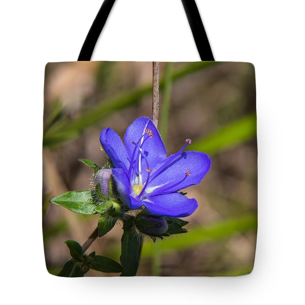 Tall Hydrolea Wildflower Tote Bag