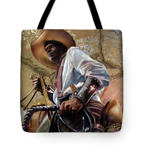 Tall In The Saddle Cowboy Pride 1a Tote Bag