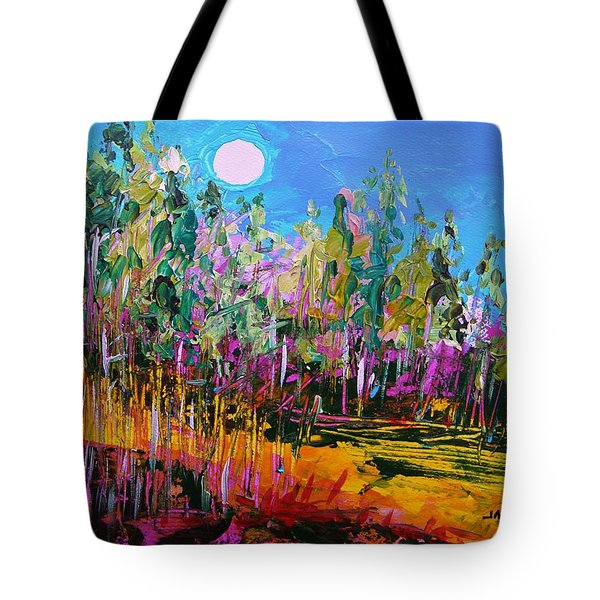 Tote Bag featuring the painting Tall Left And Front by John Williams