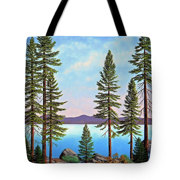 Tall Pines Of Lake Tahoe Tote Bag