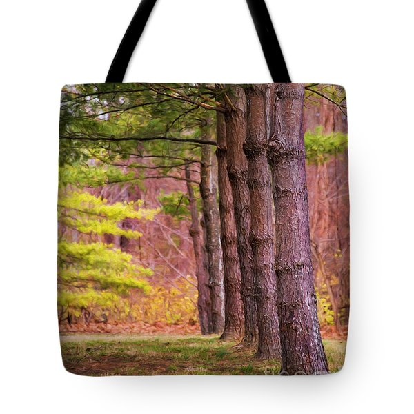 Tall Pines Standing Guard Tote Bag