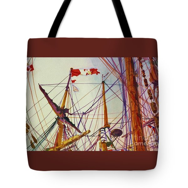 Tall Ship Lines Tote Bag