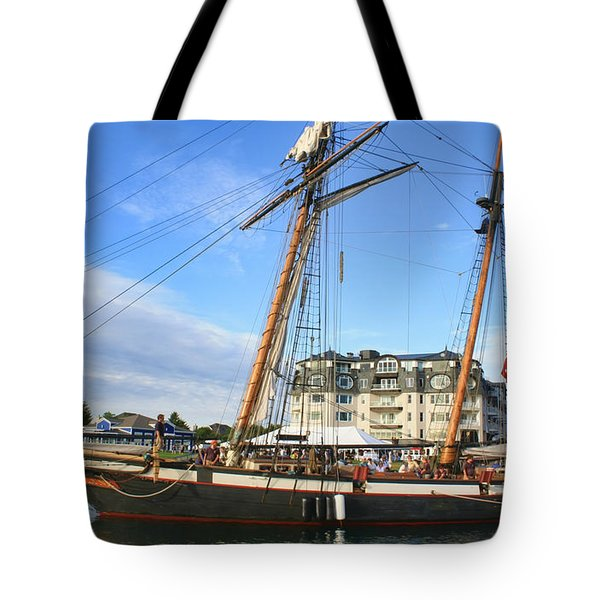 Tall Ship Lynx Tote Bag