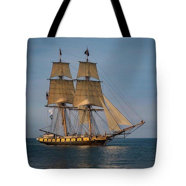 Tall Ship U.s. Brig Niagara Tote Bag