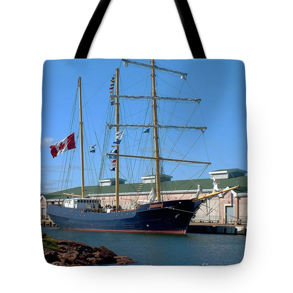 Tote Bag featuring the photograph Tall Ship Waiting by RC DeWinter