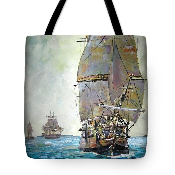 Tall Ships 2 Tote Bag