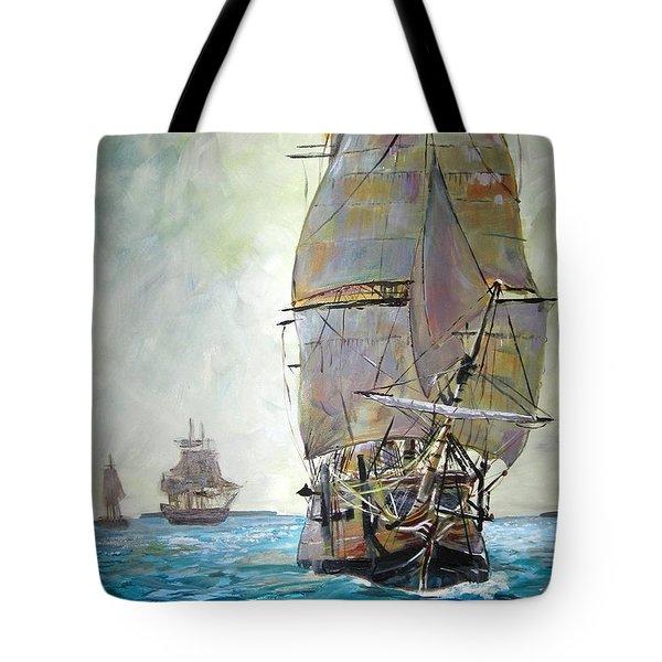 Tall Ships 2 Tote Bag