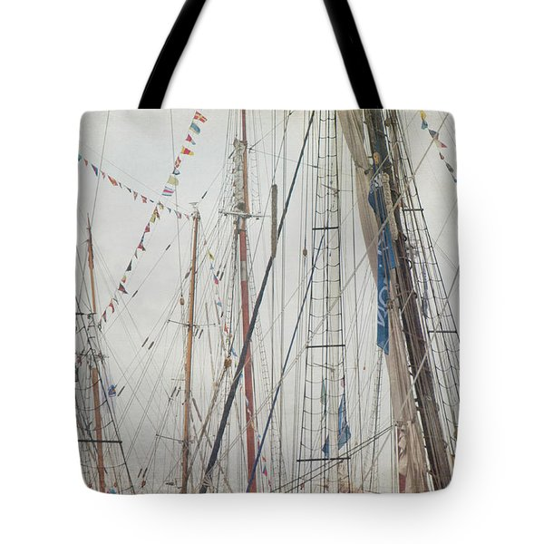Tote Bag featuring the photograph Tall Ships And Schooners Rigging And Masts  by Joann Vitali