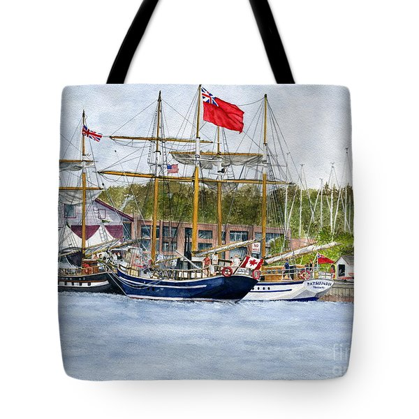 Tote Bag featuring the painting Tall Ships Festival by Melly Terpening