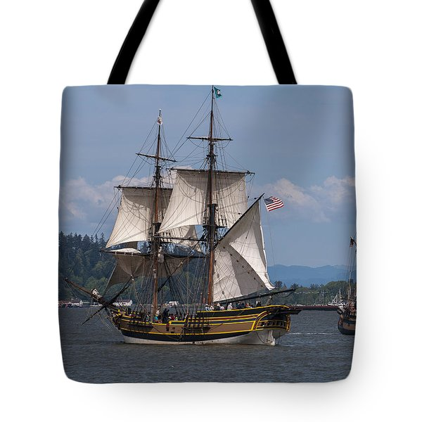 Tall Ships Square Off Tote Bag