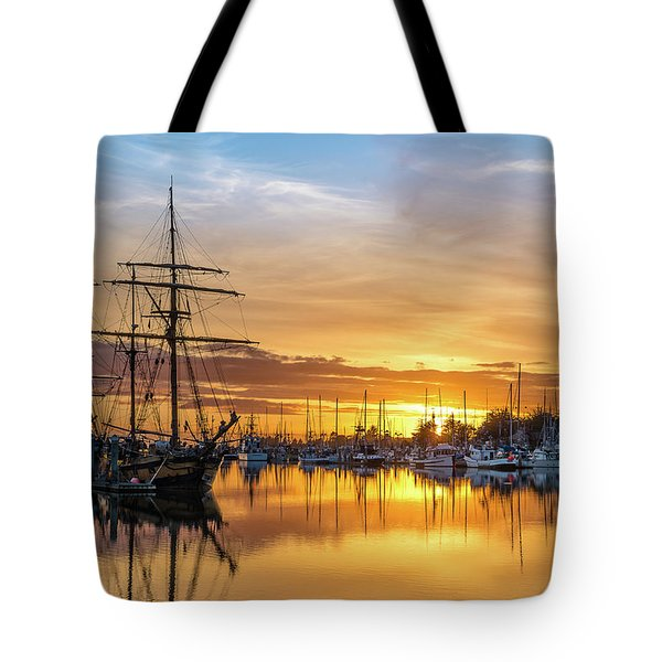 Tall Ships Sunset 1 Tote Bag