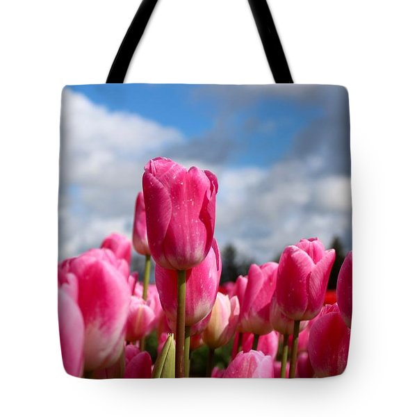 Tall Standing Tulip Tote Bag