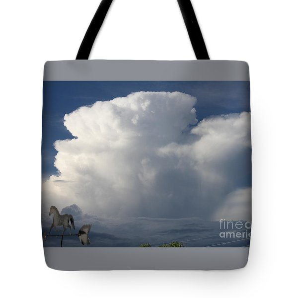 Tall Storm Clouds Tote Bag