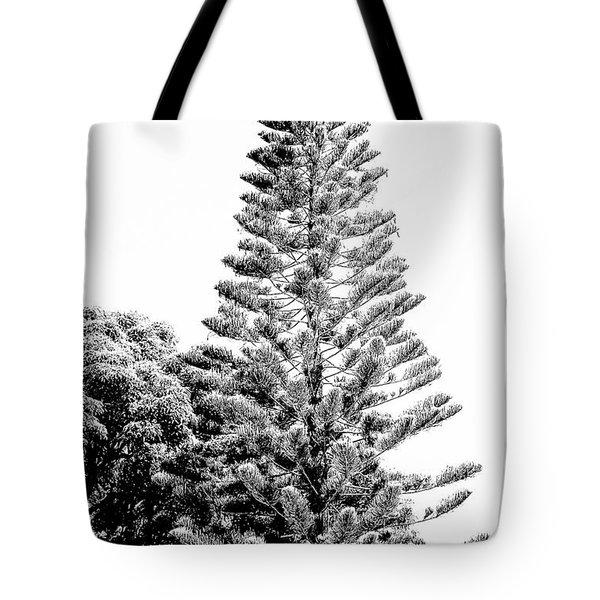 Tall Tree Bw - Lan11 Tote Bag