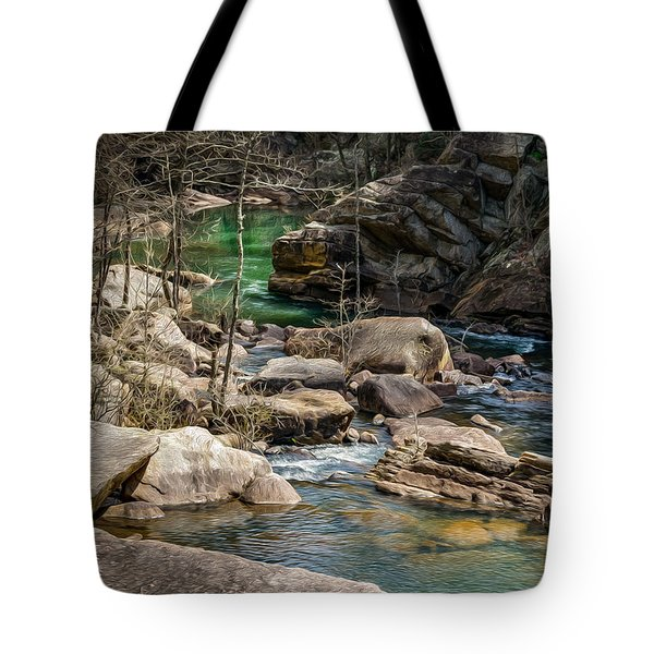 Tote Bag featuring the digital art Tallulah by Keith Smith