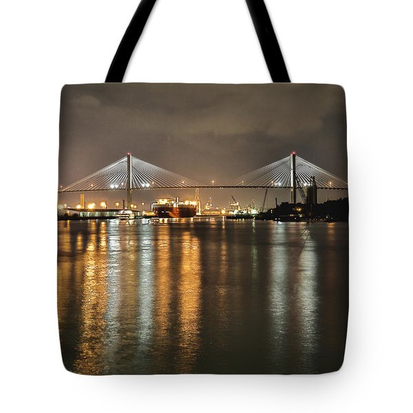 Talmadge Memorial Bridge Tote Bag