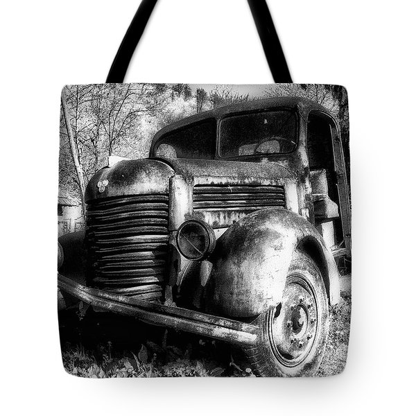 Tam Truck Black And White Tote Bag by Marko Mitic