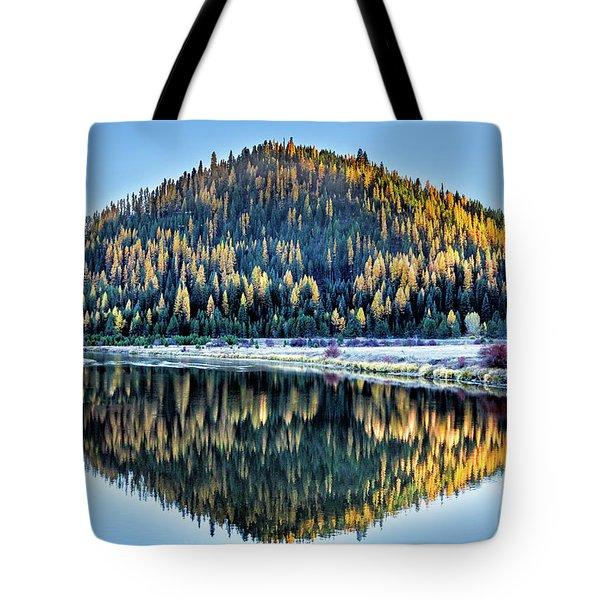 Tamarack Glow Idaho Landscape Art By Kaylyn Franks Tote Bag