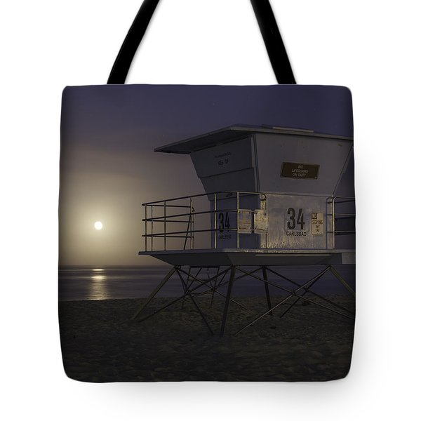 Tamarack Moonset Tote Bag