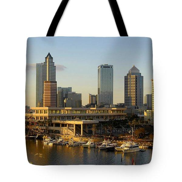 Tampa Bay And Gasparilla Tote Bag by David Lee Thompson