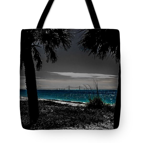 Tote Bag featuring the photograph Tampa Bay Blue by Randy Sylvia