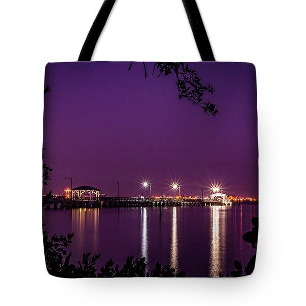 Tampa Bay Fishing Pier Tote Bag