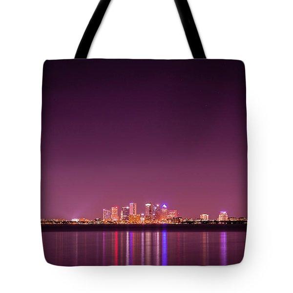 Tampa Bay Skyline Tote Bag