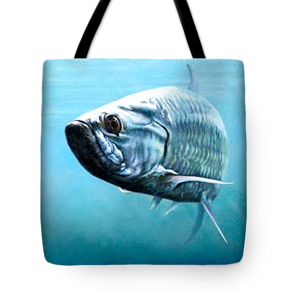 Tampa Bay Tarpon Tote Bag by Joan Garcia