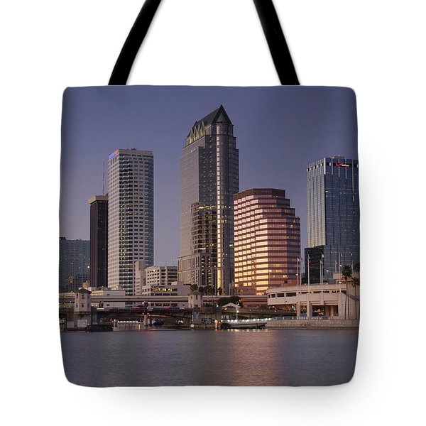 Tampa Florida  Tote Bag by David Lee Thompson