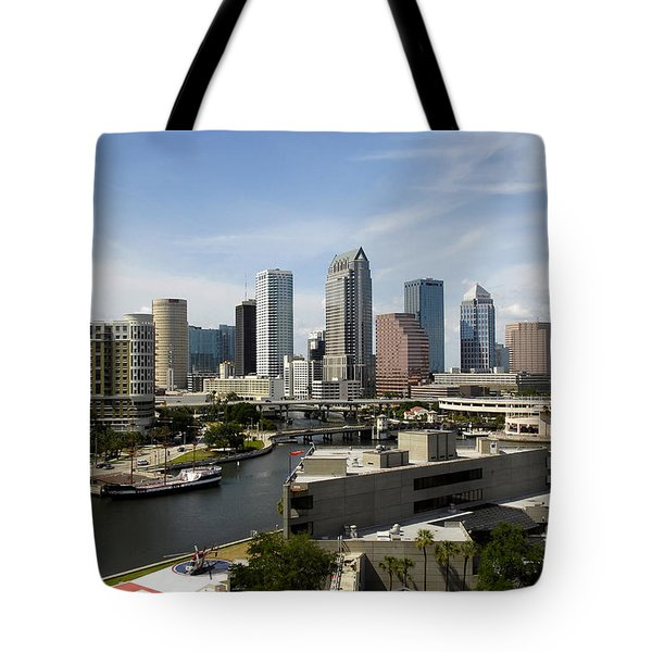 Tampa Florida Landscape Tote Bag by David Lee Thompson