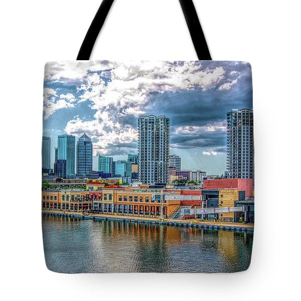 Tampa Florida Skyline Tote Bag