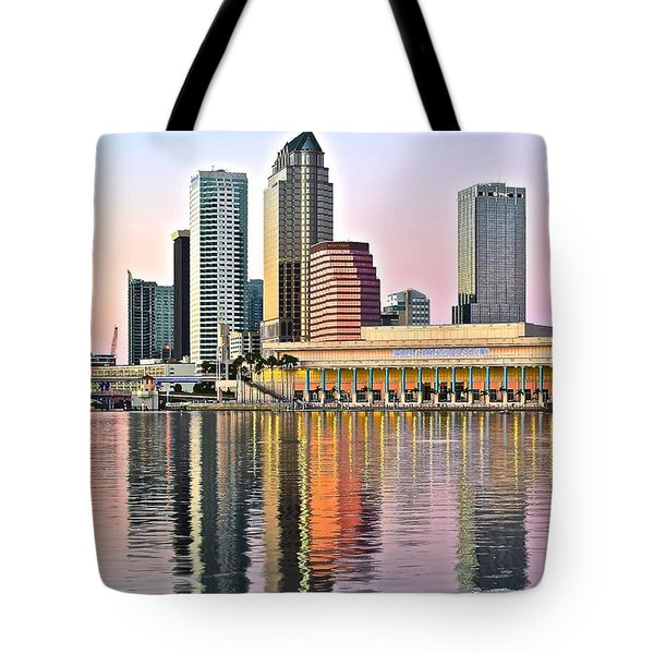 Tampa In Vivid Color Tote Bag by Frozen in Time Fine Art Photography