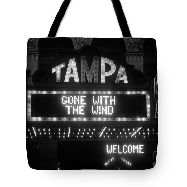 Tampa Theatre 1939 Tote Bag by David Lee Thompson