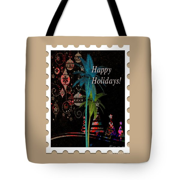 Tote Bag featuring the digital art Tan Stamp by Megan Dirsa-DuBois