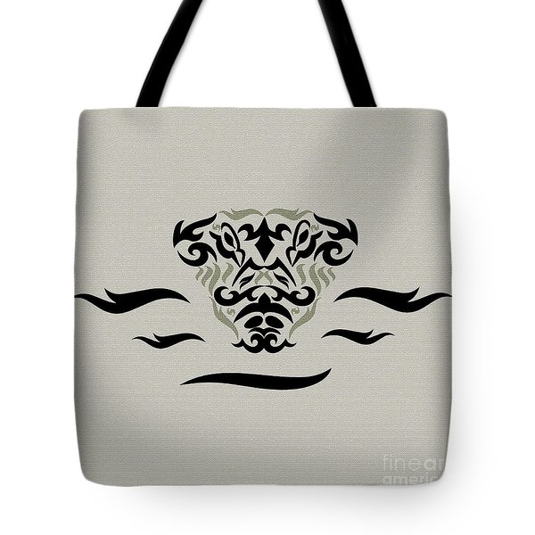 Tan Tribal Gator Tote Bag
