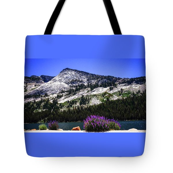 Tanaya Lake Wildflowers Yosemite Tote Bag