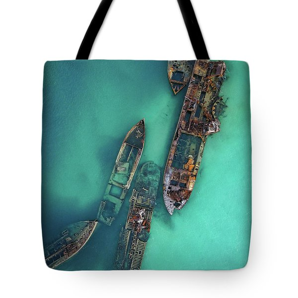 Tangalooma Wrecks Tote Bag