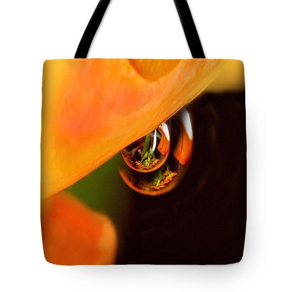 Tangerine Drops Tote Bag