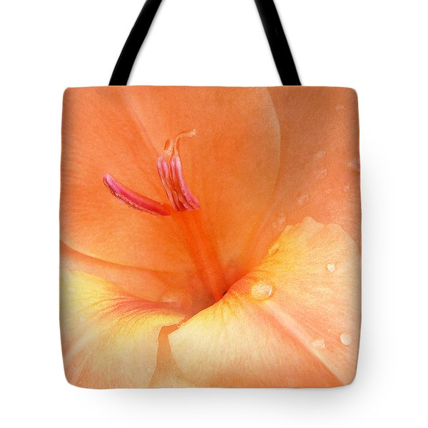 Tangerine Gladiola Tote Bag