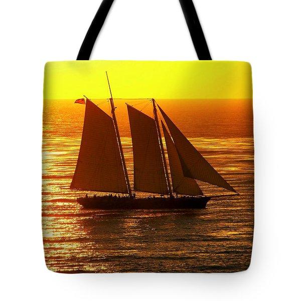 Tangerine Sails Tote Bag by Karen Wiles