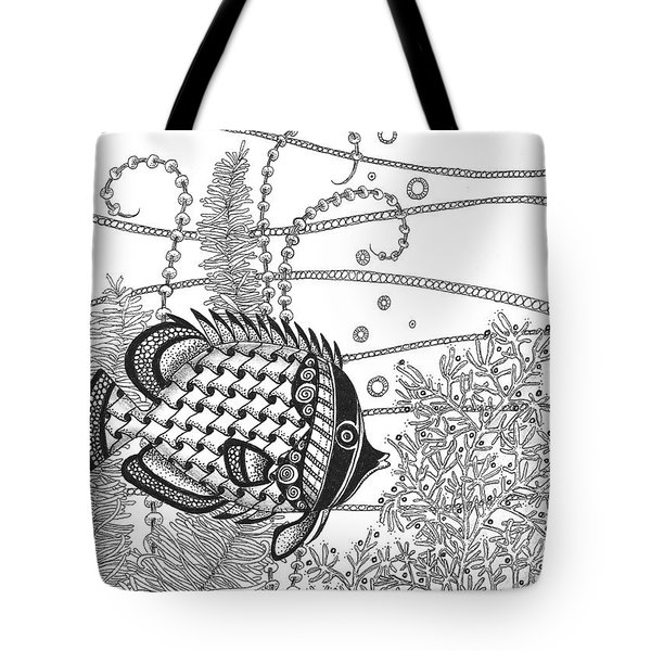 Tangle Fish II Tote Bag