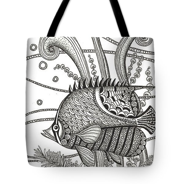 Tangle Fish Tote Bag