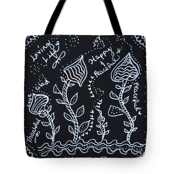 Tangle Flowers Tote Bag