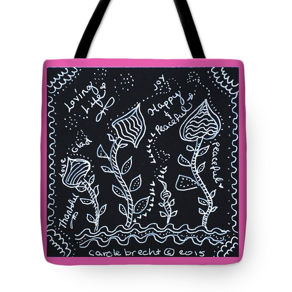 Tangle Flowers Tote Bag